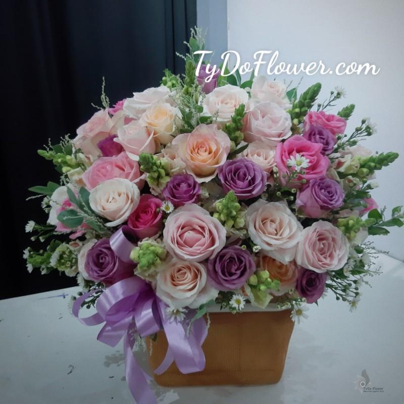 Lẵng hoa chúc mừng tydo flower